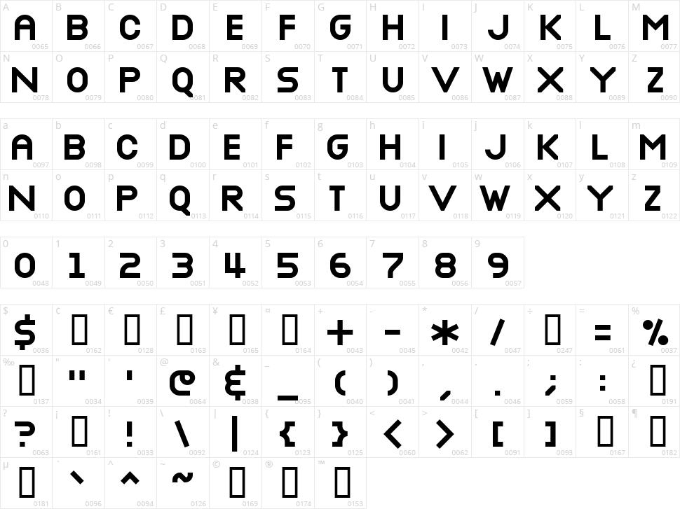 Nottke Character Map