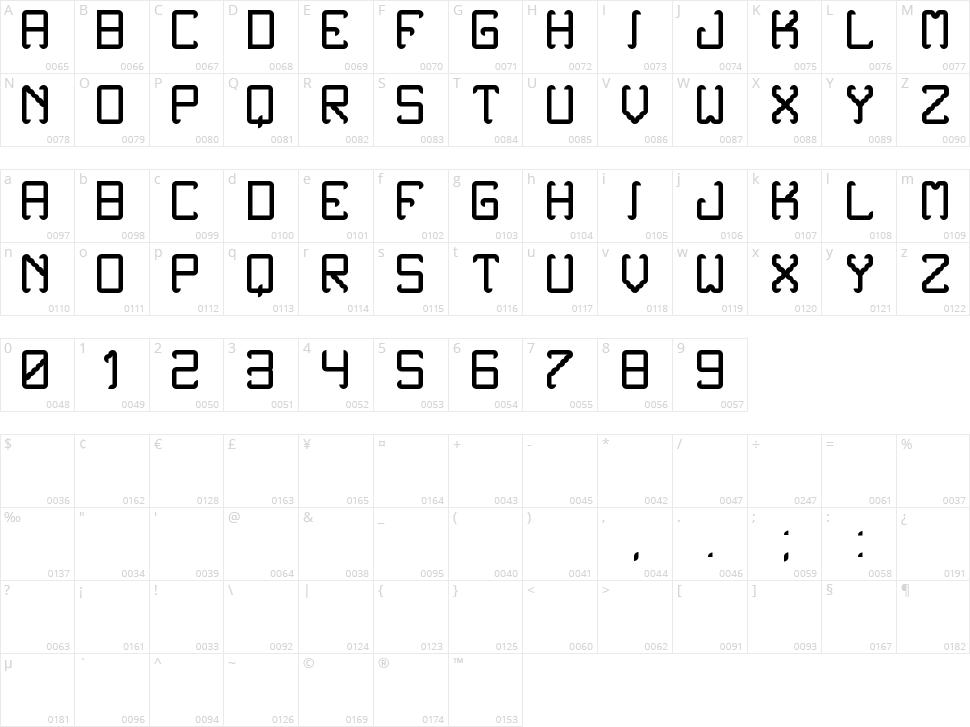 Noxtrey Auf TFB Character Map