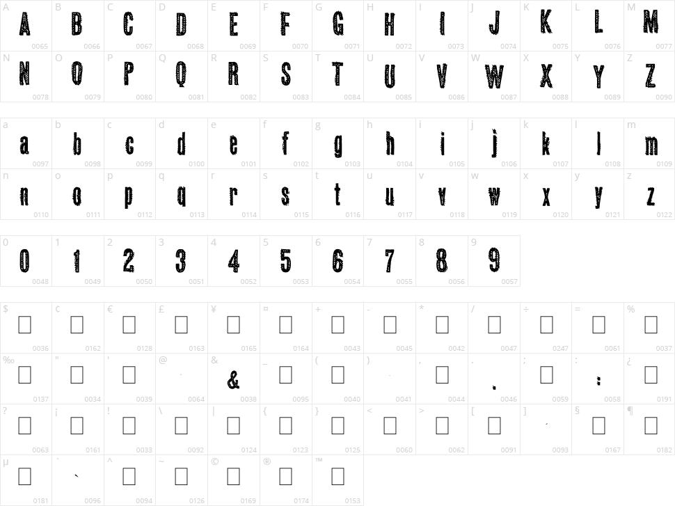 Okas Character Map