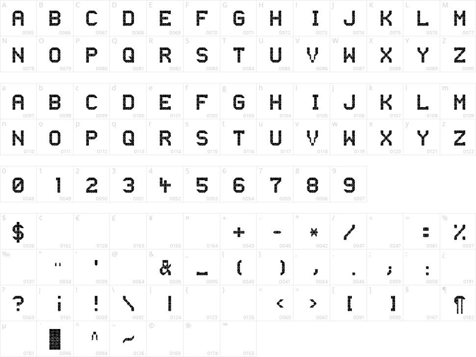 Ooh Bahn Character Map