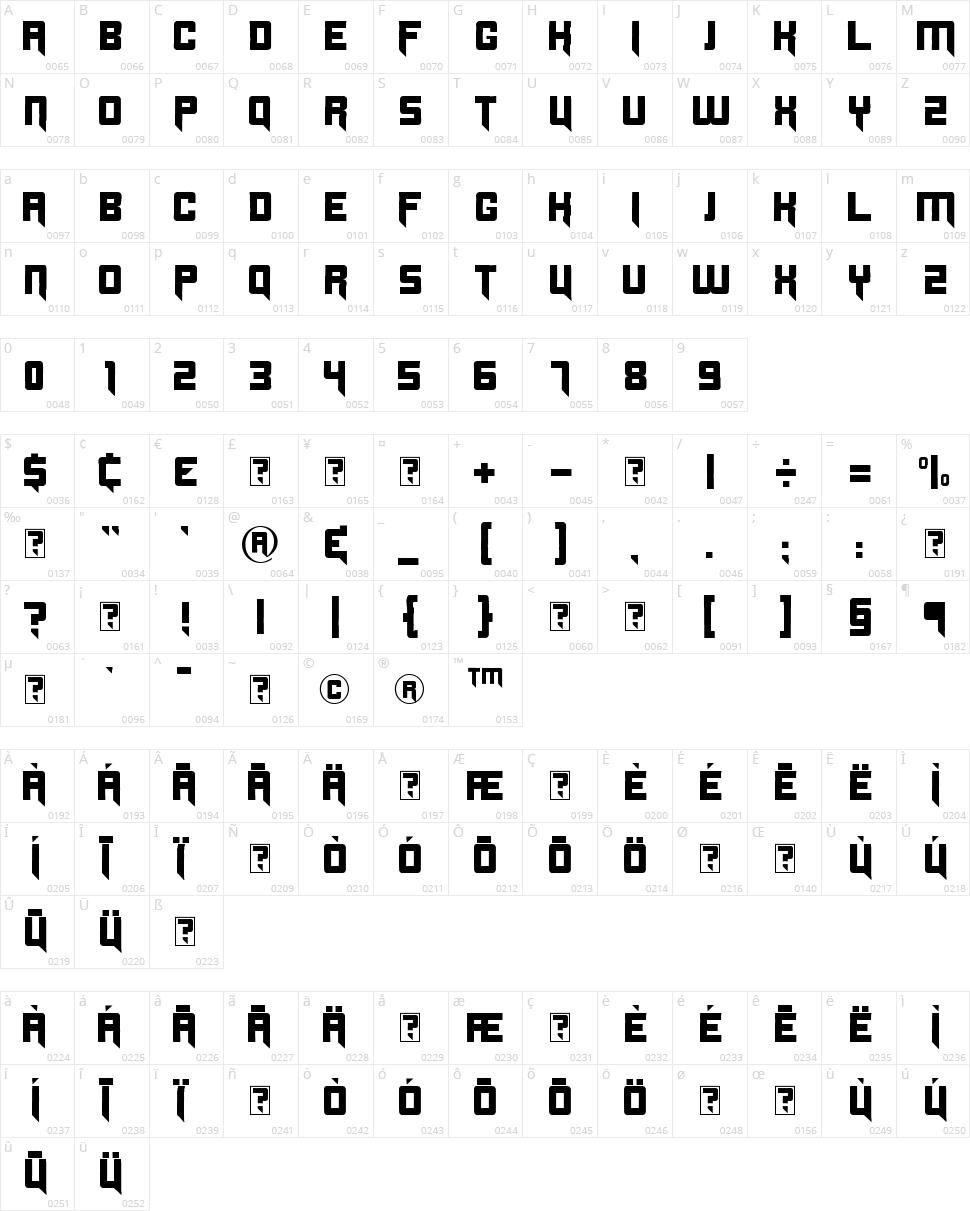 Origicide Character Map
