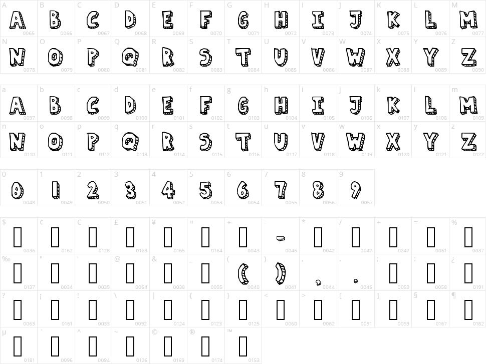 Paper Mache Character Map
