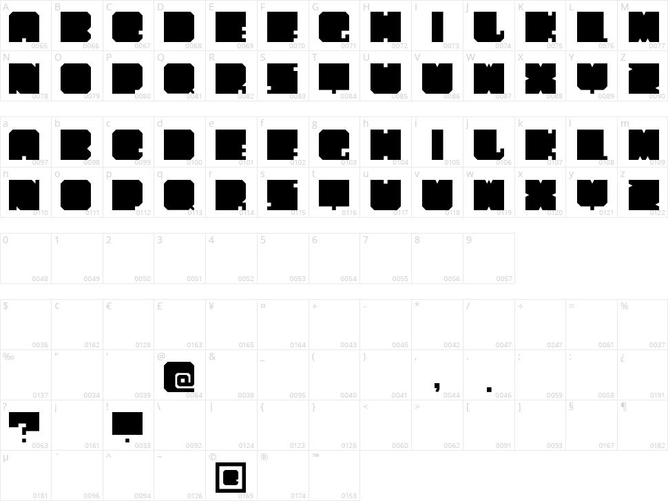 PaperCut Character Map