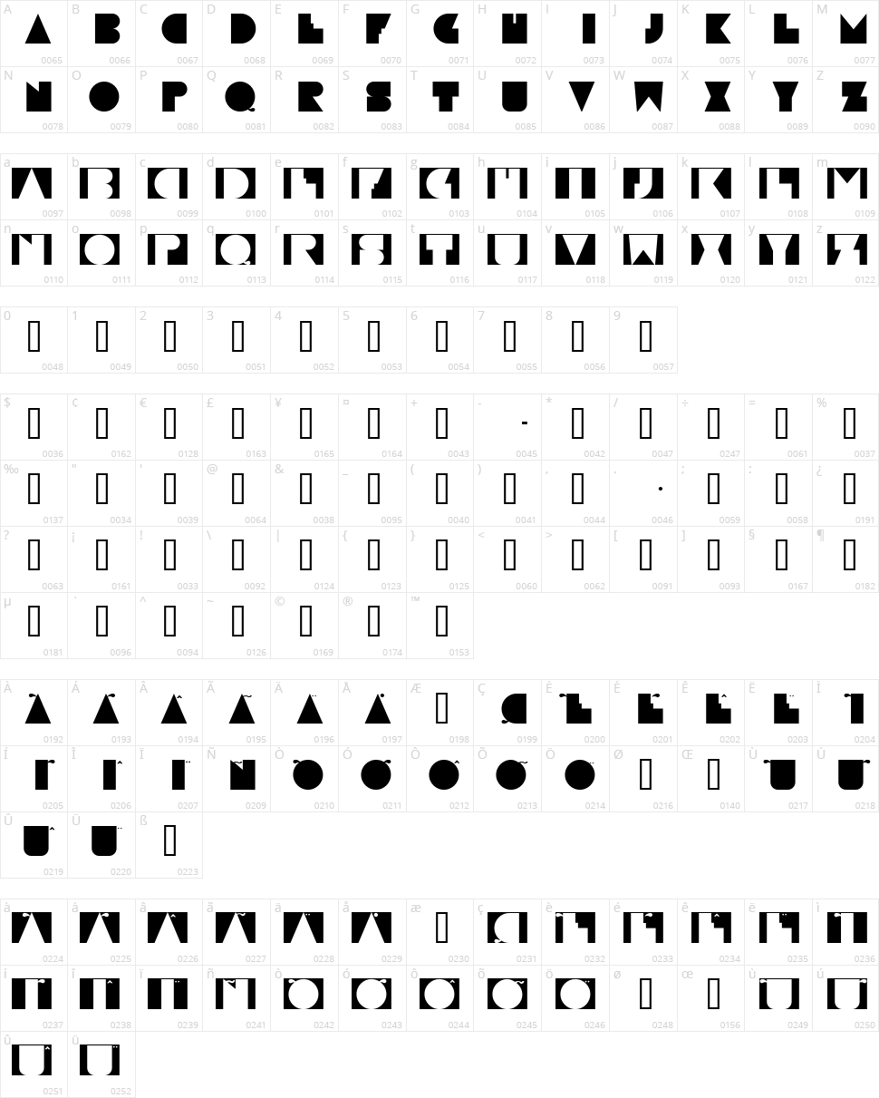 Paulistana Maraba Character Map