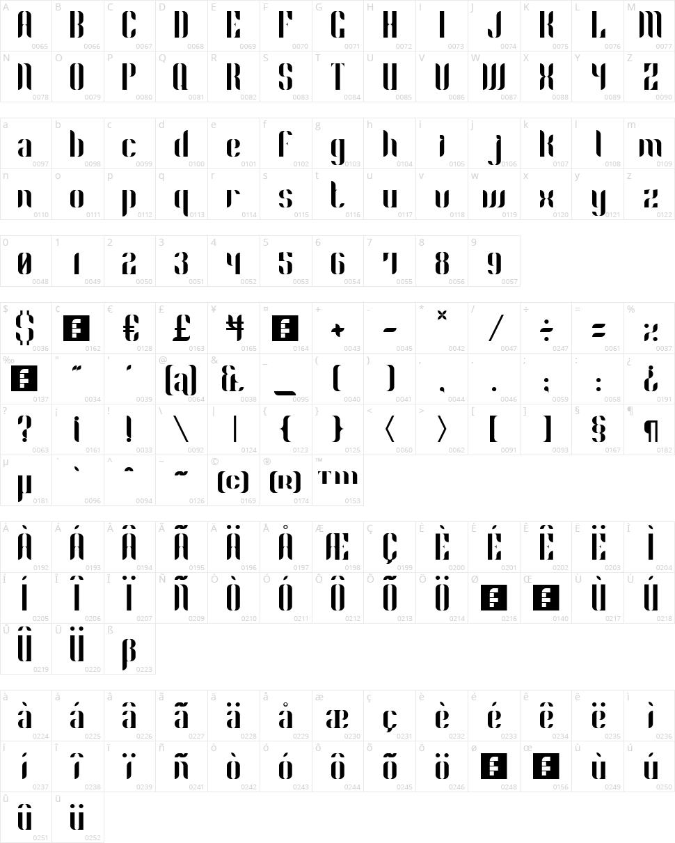 Phyllon Character Map
