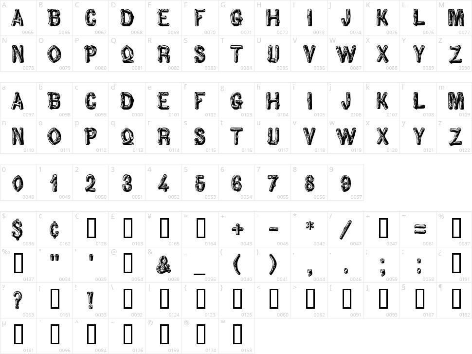 Pinewood Character Map