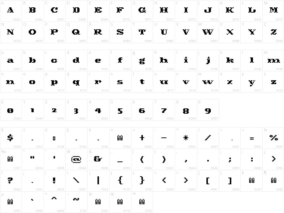 Pixel Cowboy Character Map
