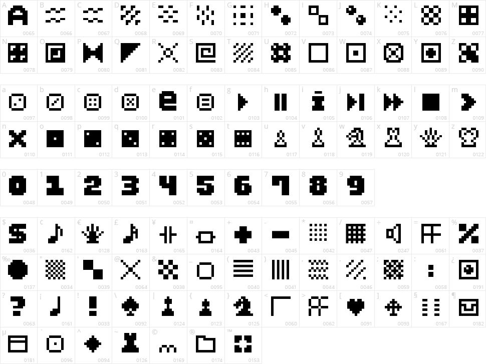 Pixel Dingbats-7 Character Map