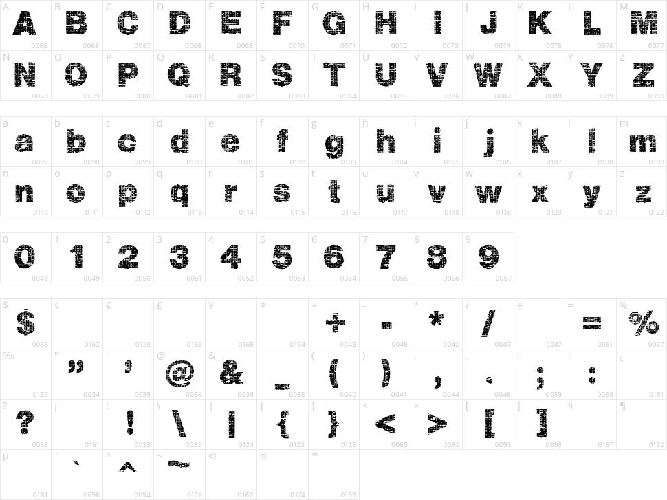 Plaid Character Map