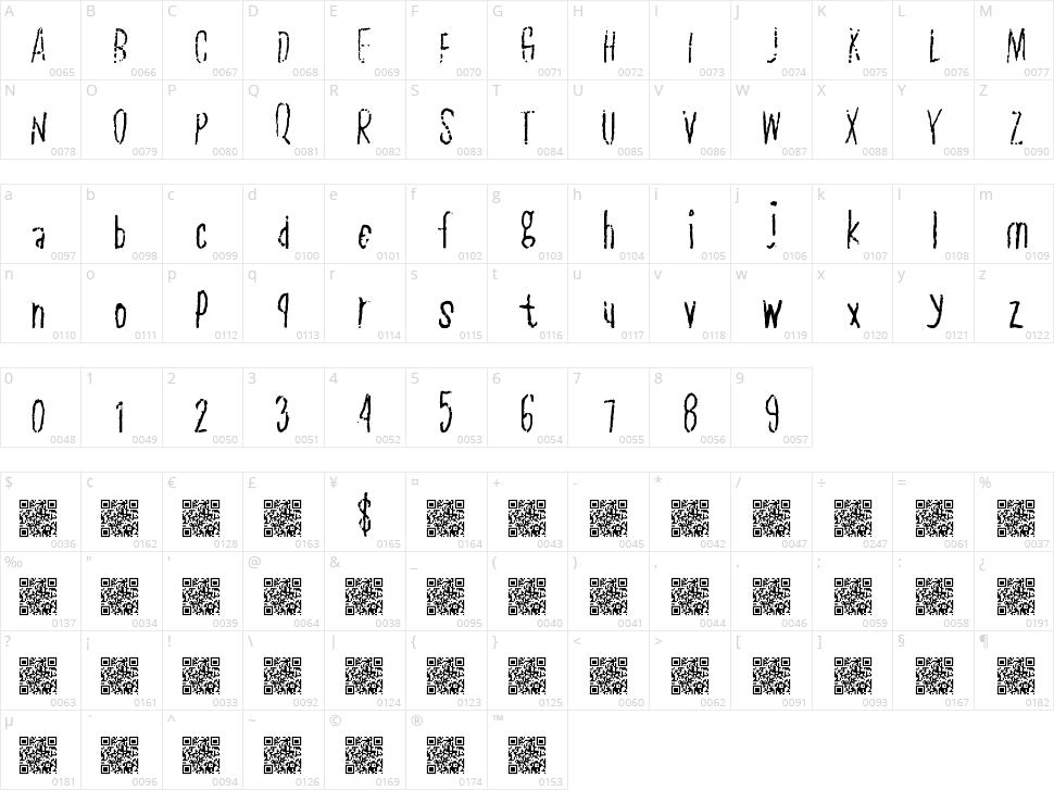 Plain Slice Character Map