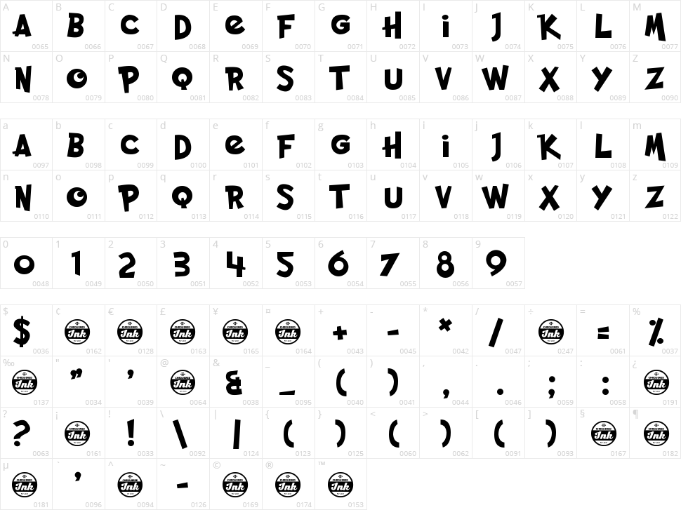 Pocket Monk Character Map