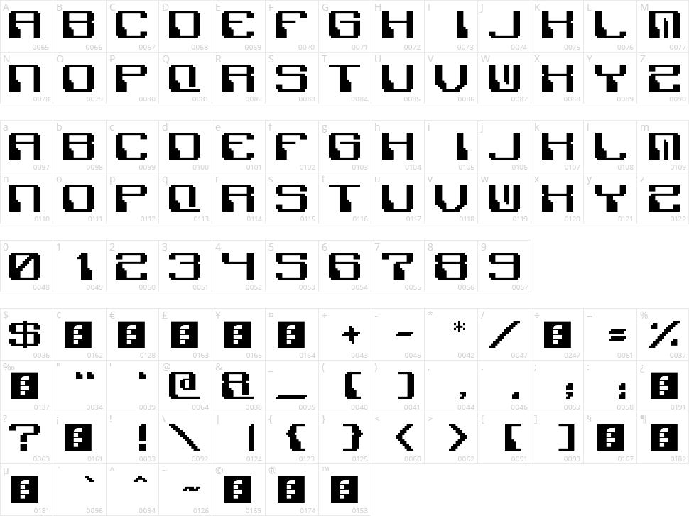 Polix Mono Character Map