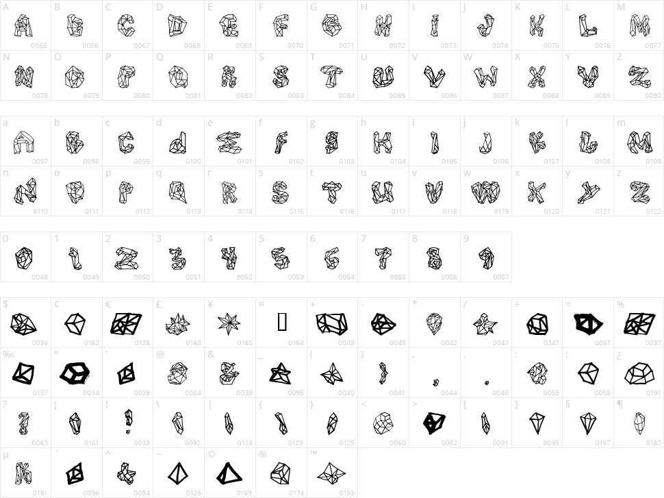 Polygons Character Map