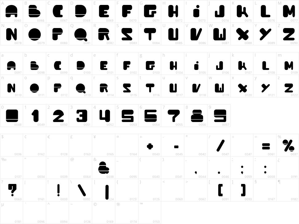 Powda Character Map