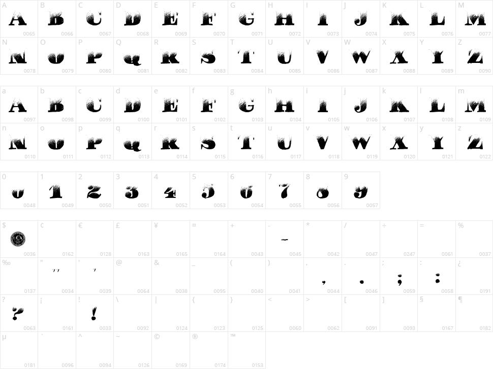 Pucha Dawn Character Map