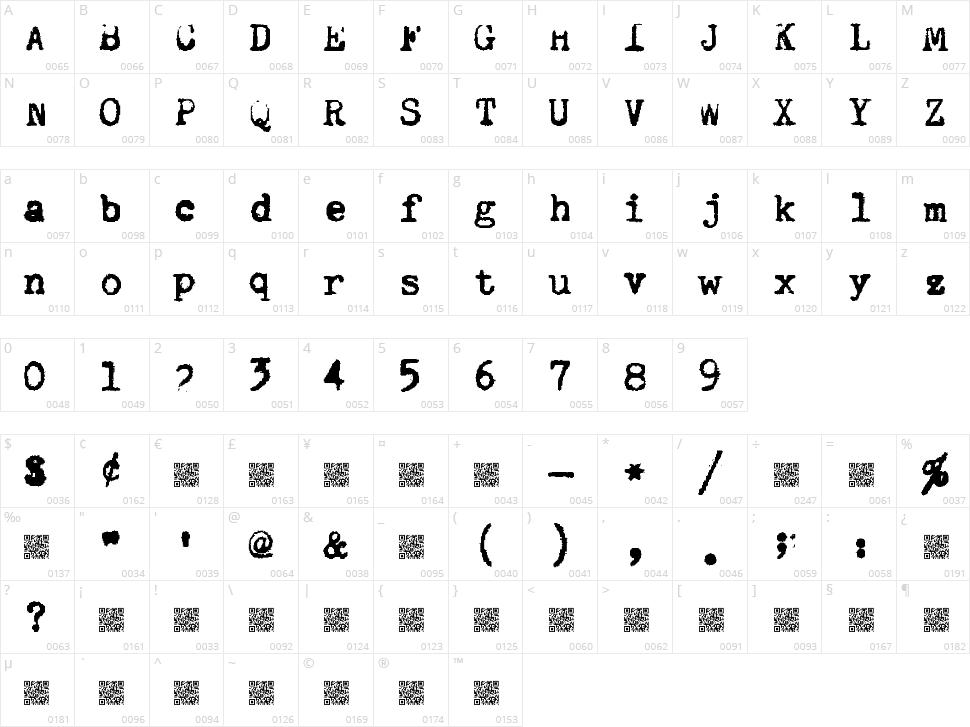 Quiet Typer Character Map