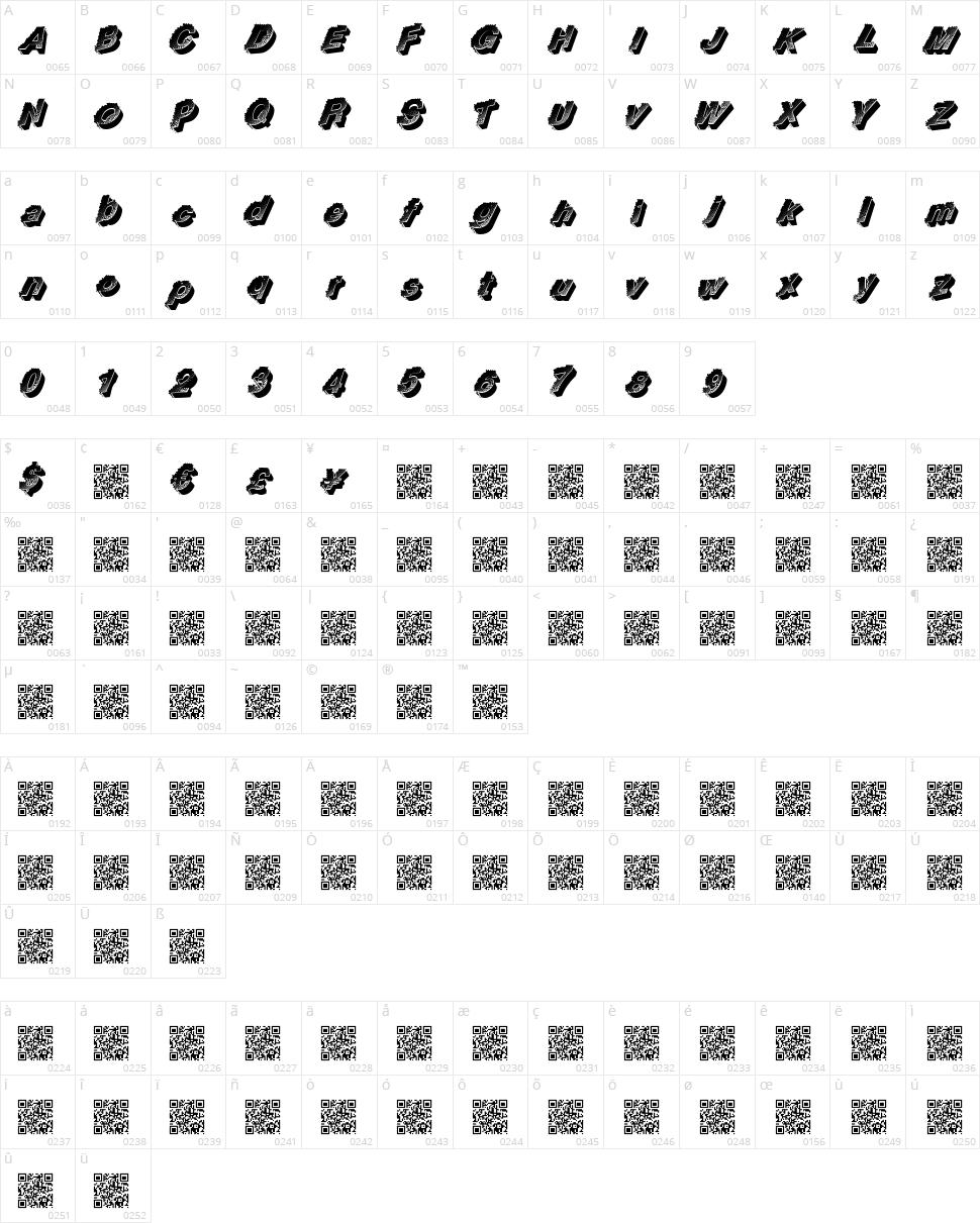 Racing Flow Character Map