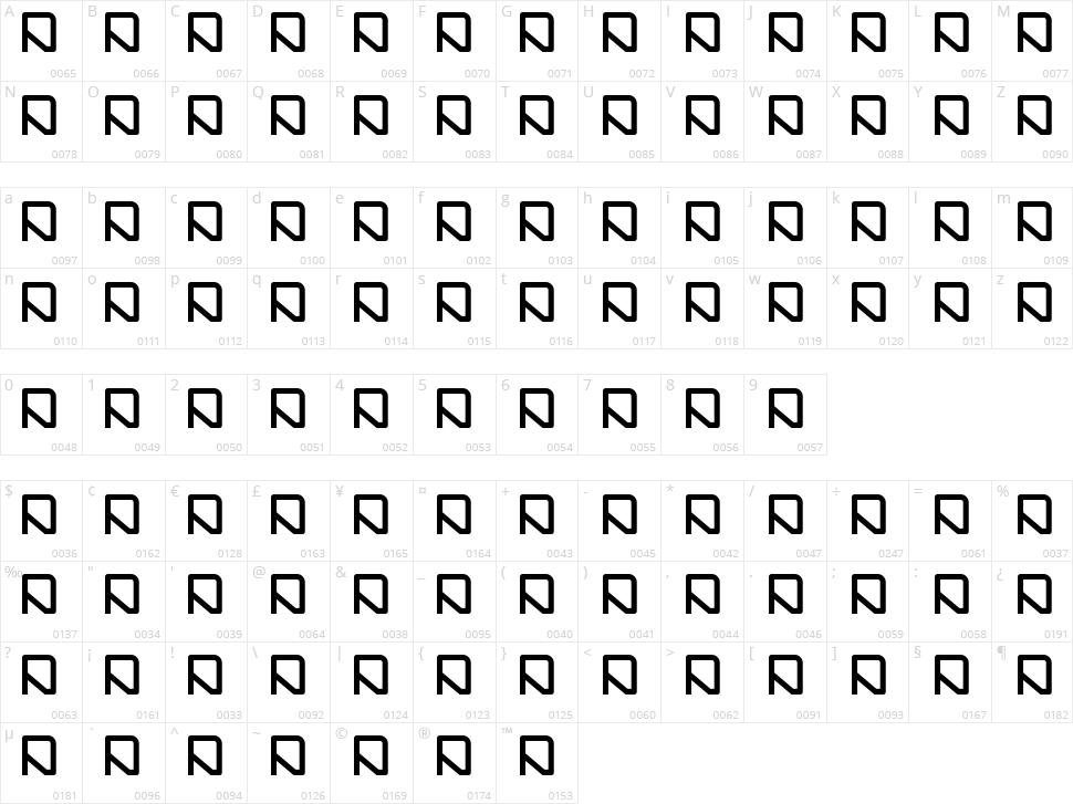Raysha 110907 Character Map