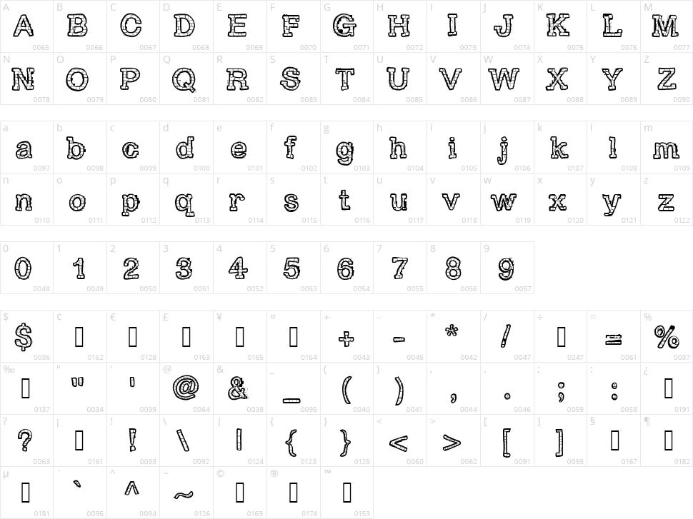 RH Brickhaus Proto Character Map