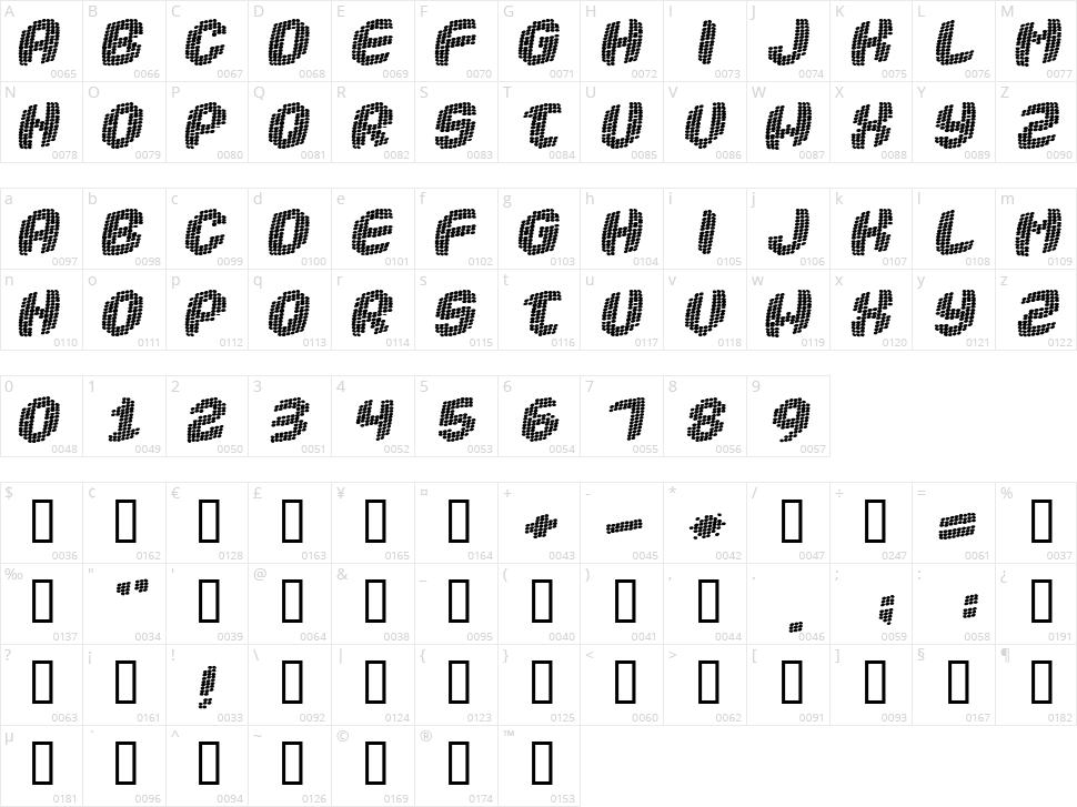 Robotica Character Map