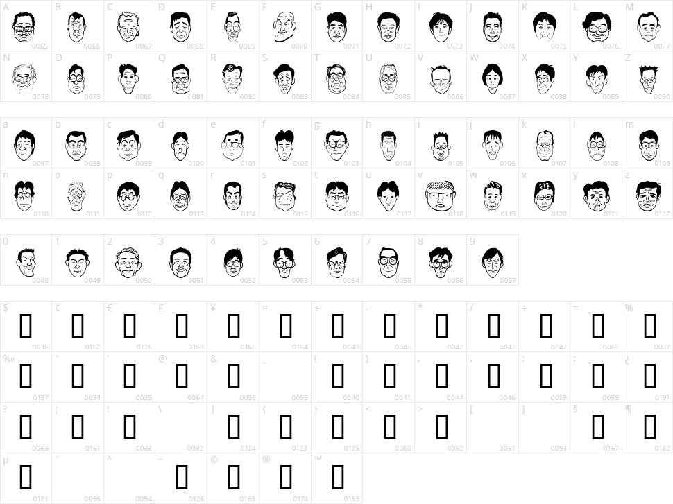 Sakabe People 04 Character Map