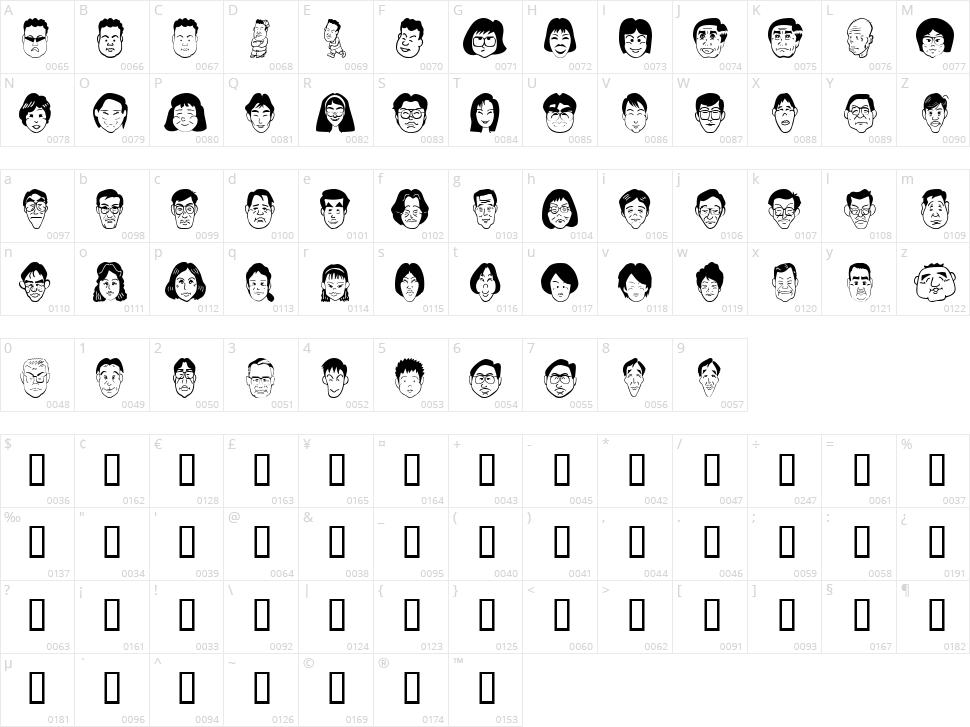 Sakabe People 06 Character Map