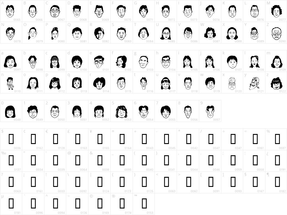 Sakabe People 07 Character Map