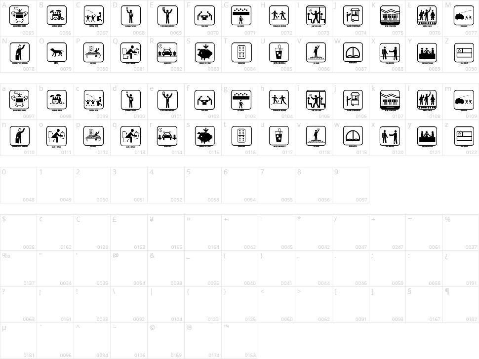 Santiago Icono Character Map