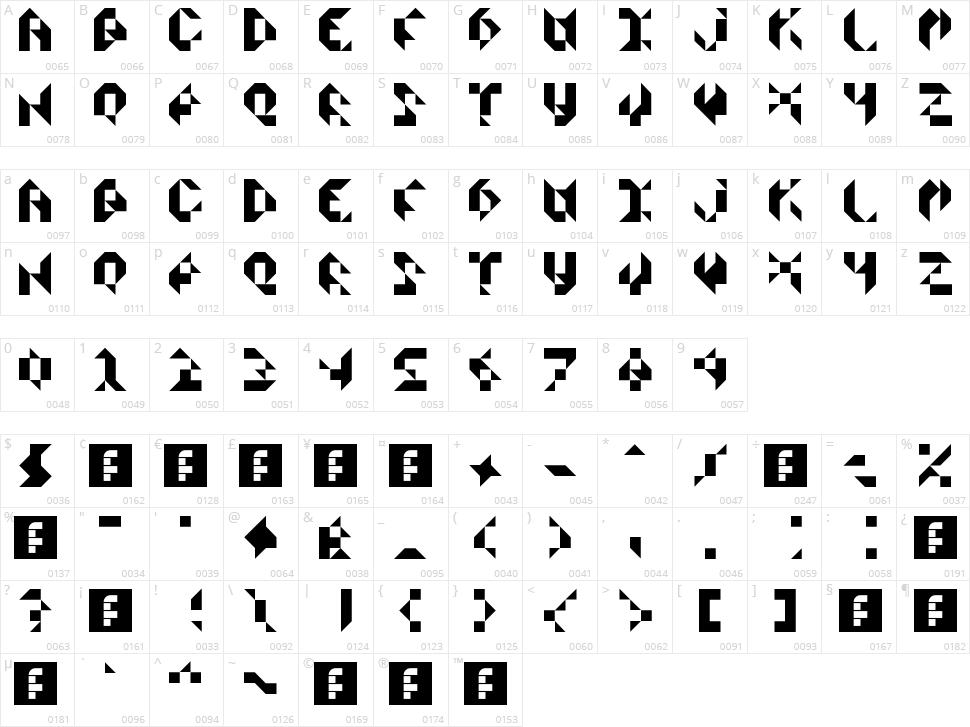 Scissors Cuts Paper Character Map