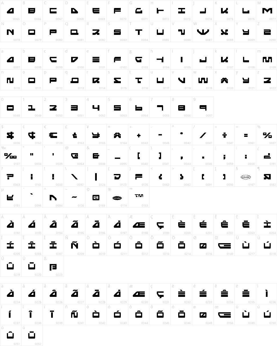 Searider Falcon Character Map