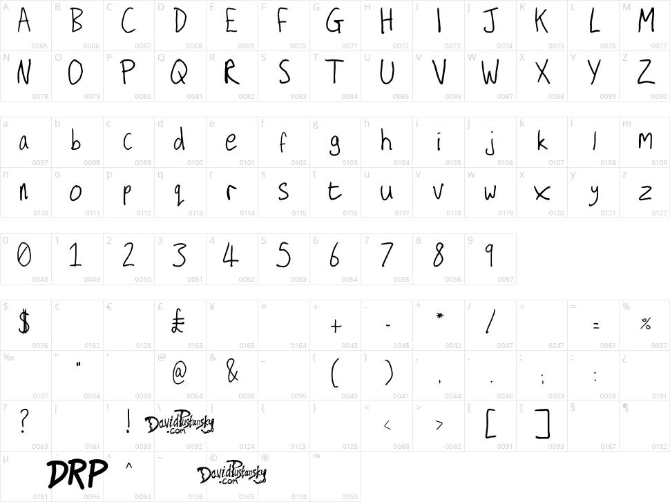 Secret Diary Character Map