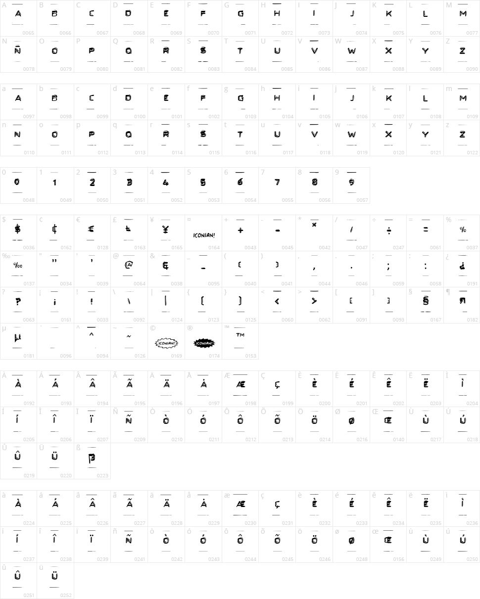 Secret Files Character Map