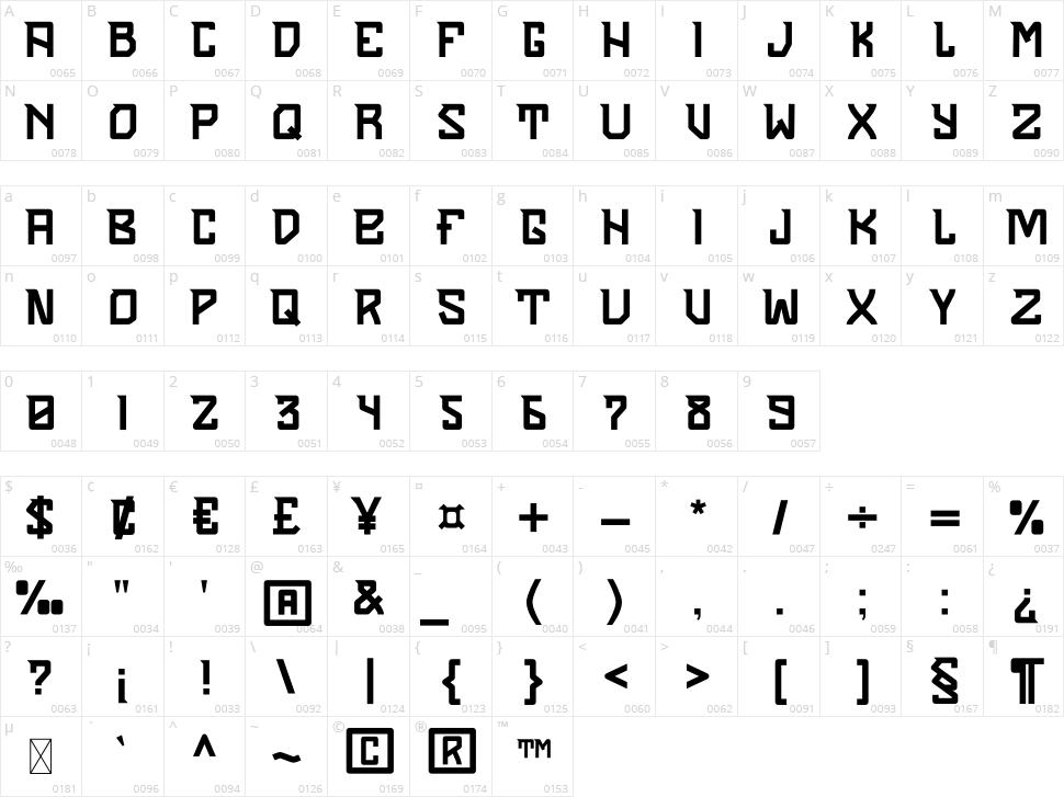 Sendha Character Map