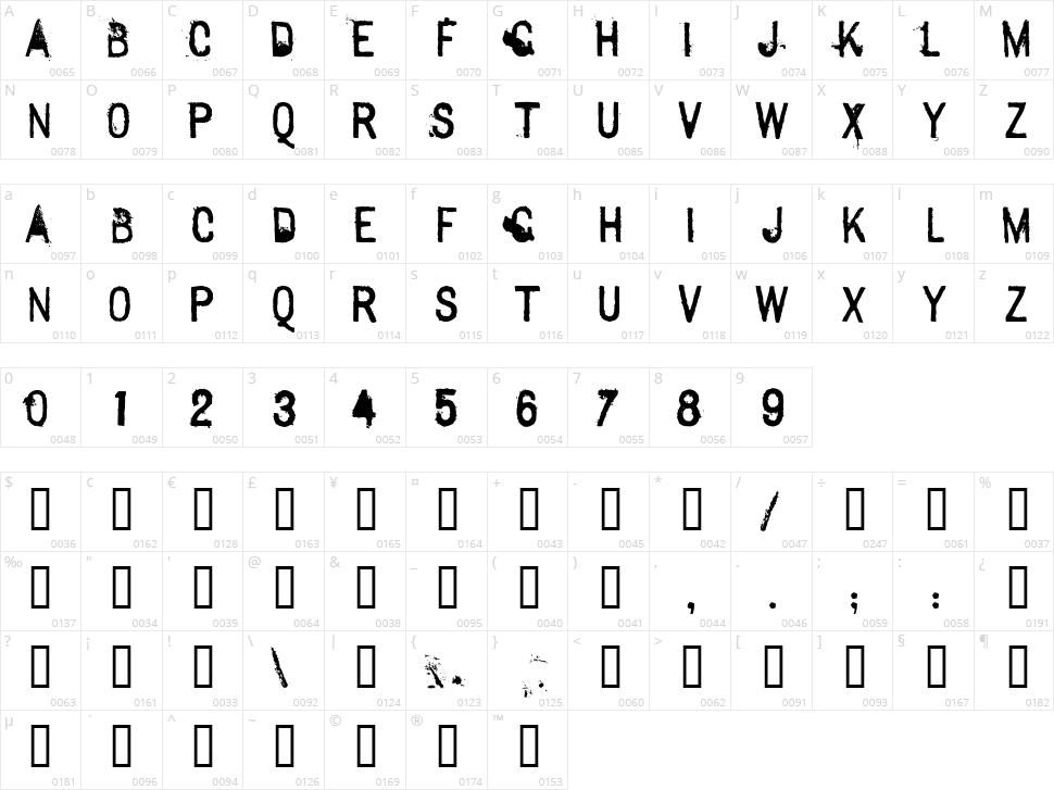 Sexton Sans Character Map