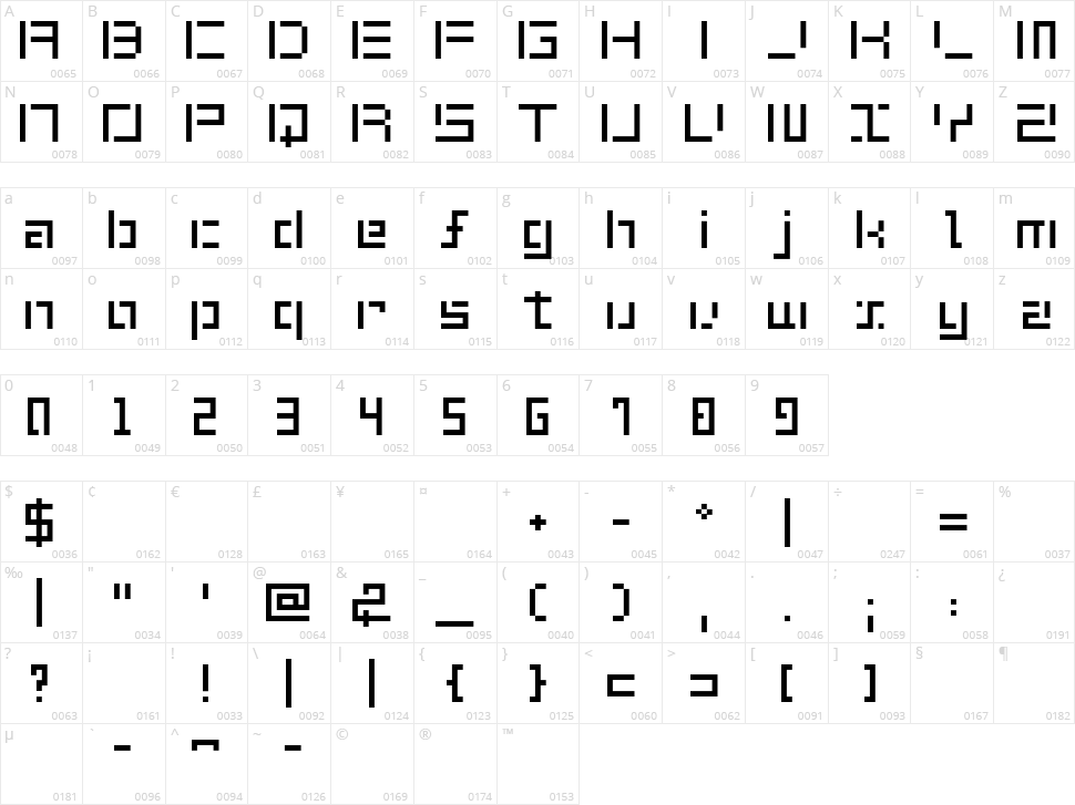 Shuin Sans Character Map