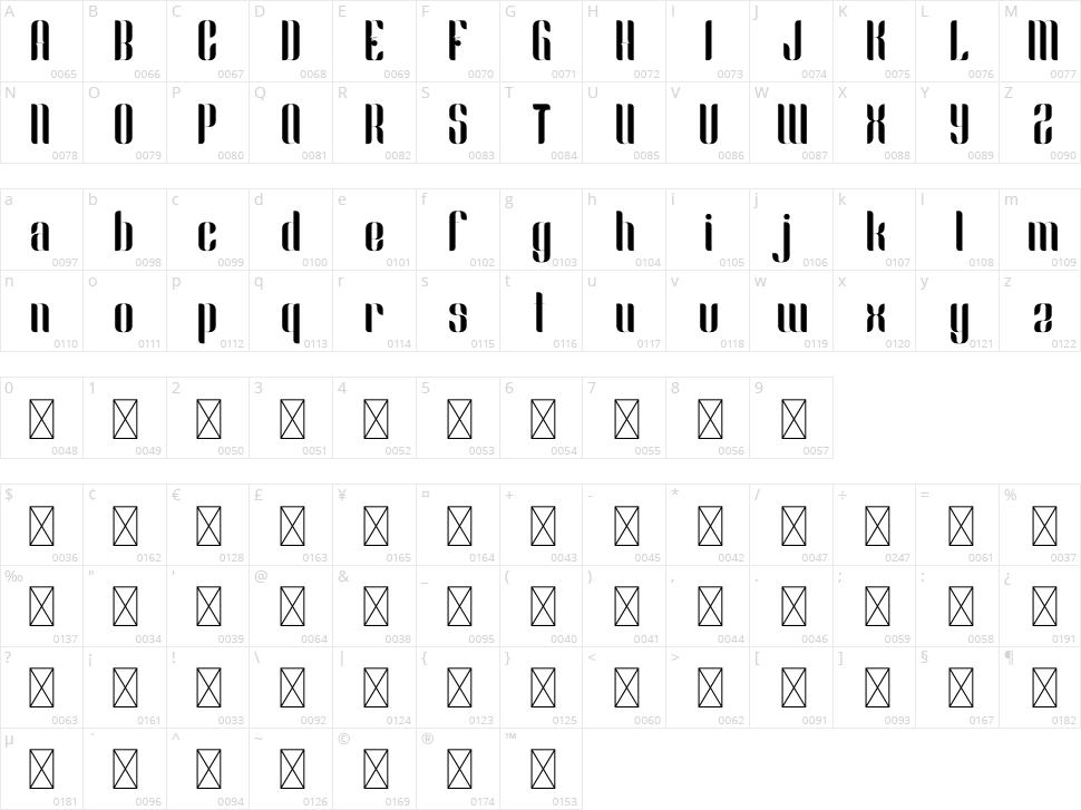 Slang Character Map