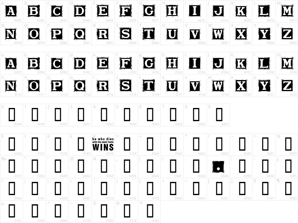 Smargana Character Map