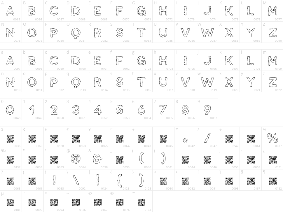 SnakeBite Character Map