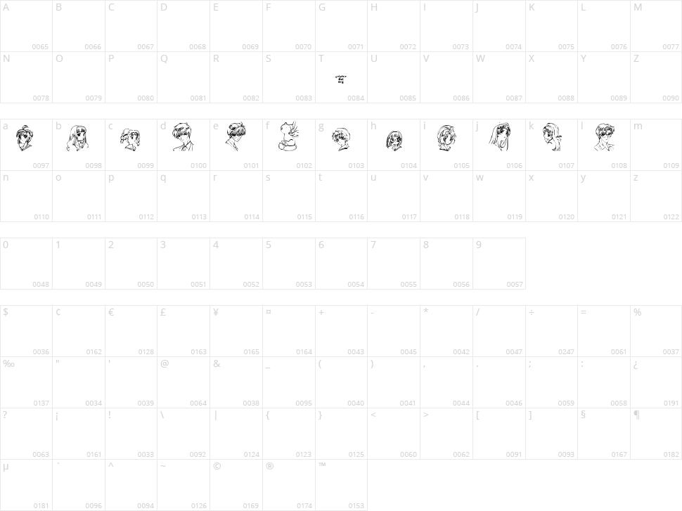 SO CC-Sakura Character Map