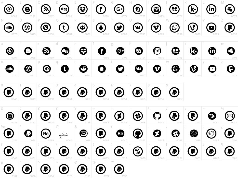 Social Circles Character Map