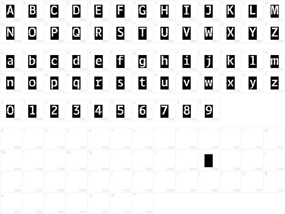 Solari Character Map