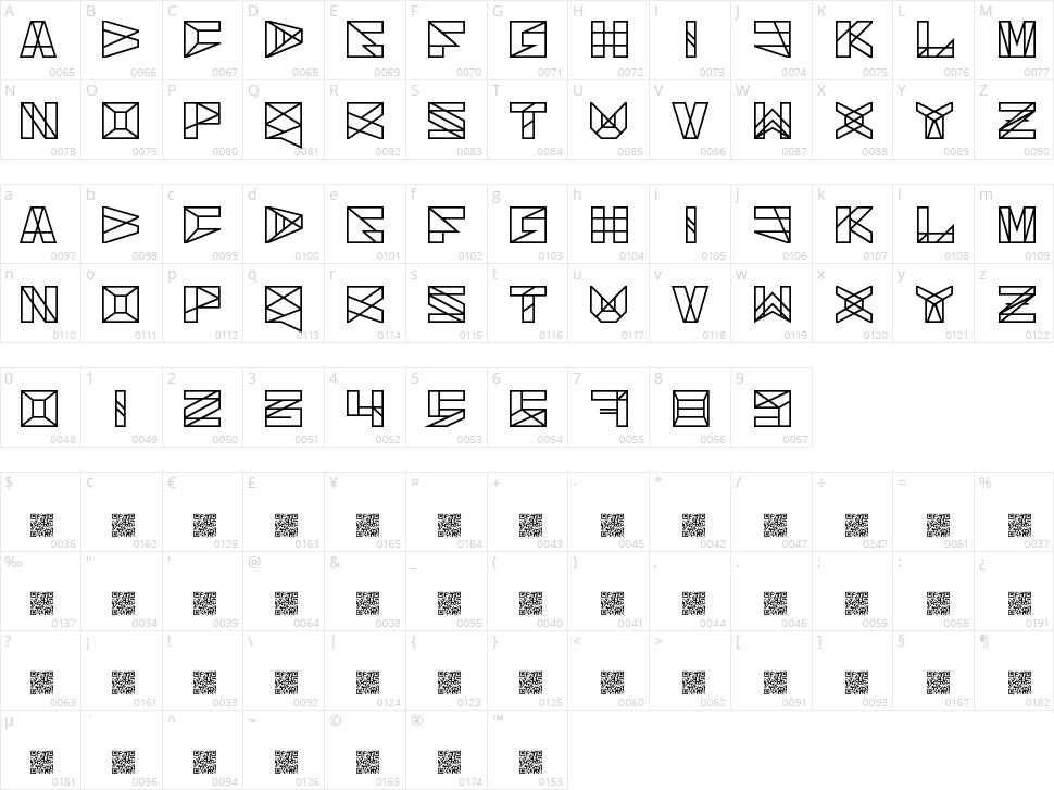 Solarium Character Map