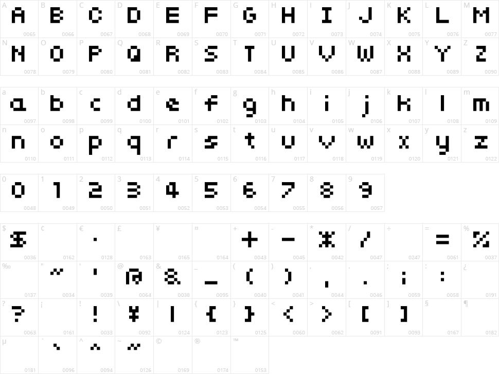 somybmp01_7 Character Map