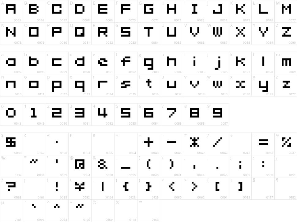 somybmp02_7 Character Map
