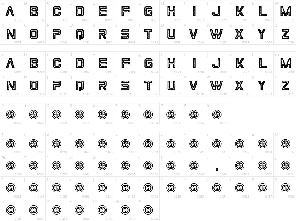 Space Mavericks Character Map