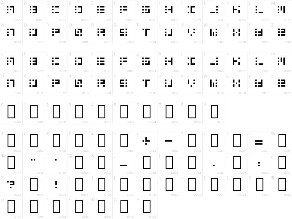 Speakerbox Character Map