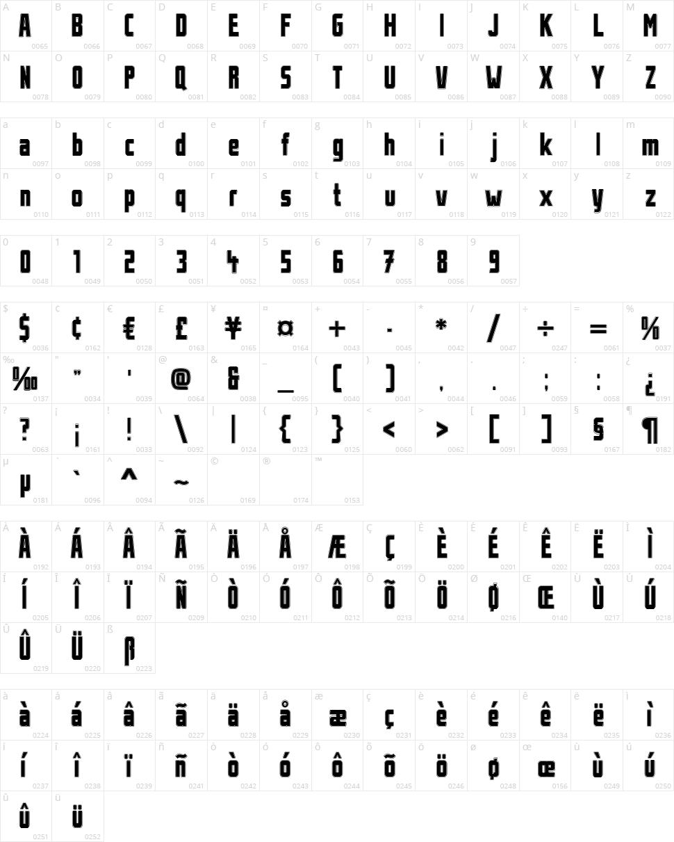 Stahlbetontraeger Character Map