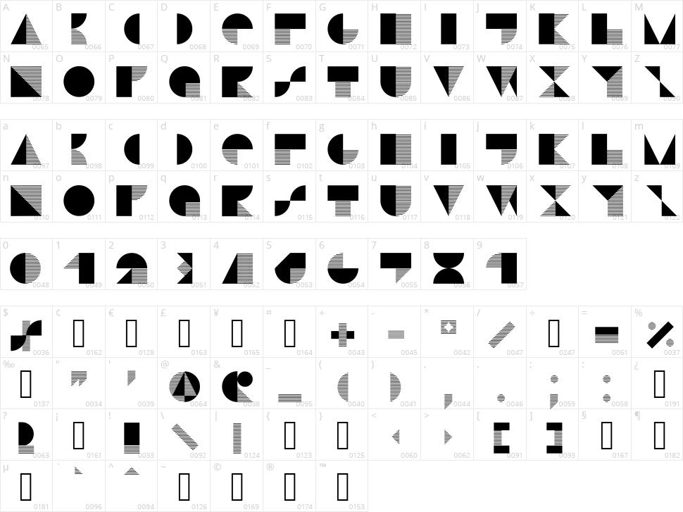 Stijla Character Map