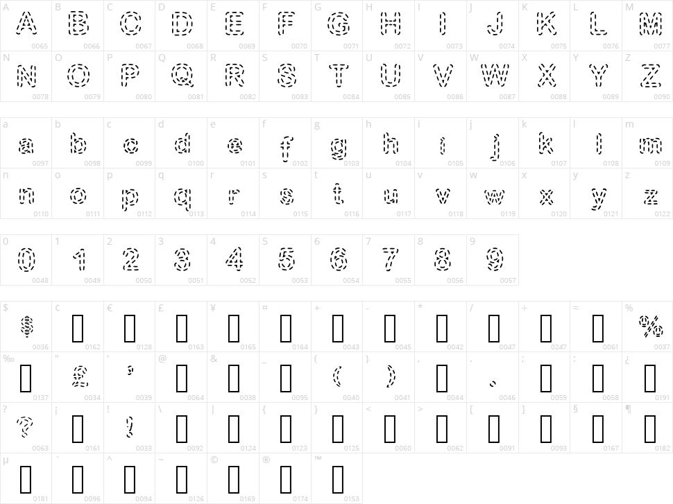 Stitch Character Map