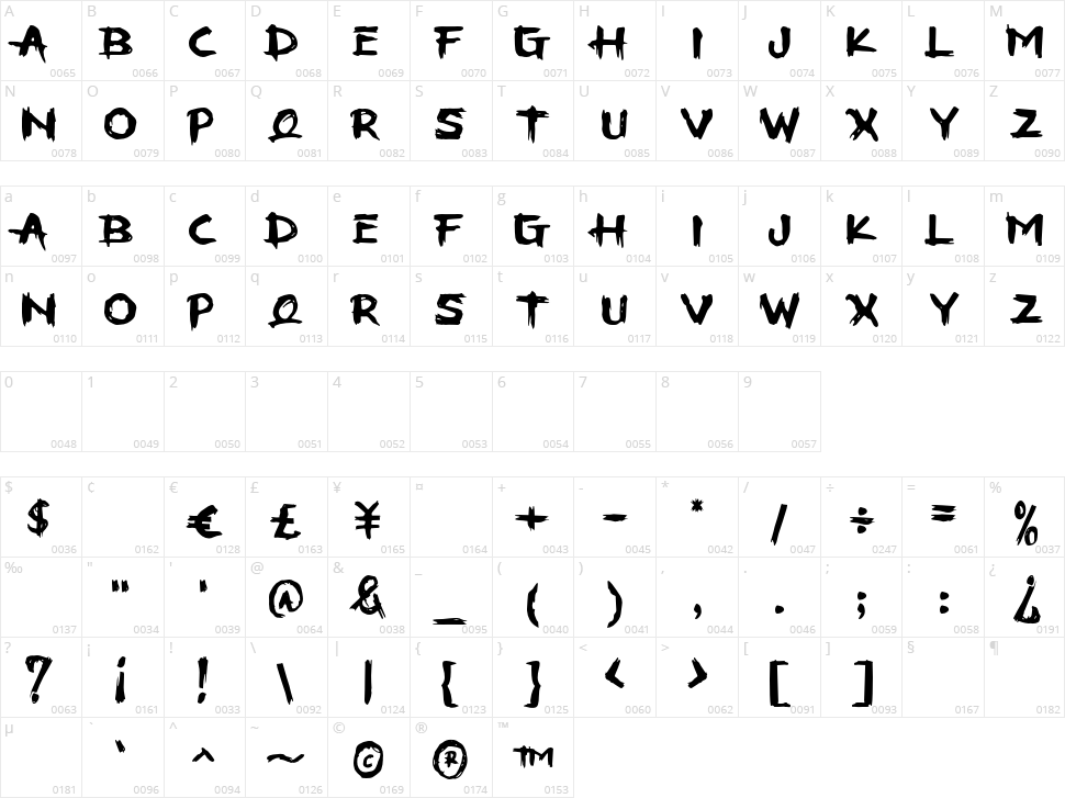 Stooha Character Map